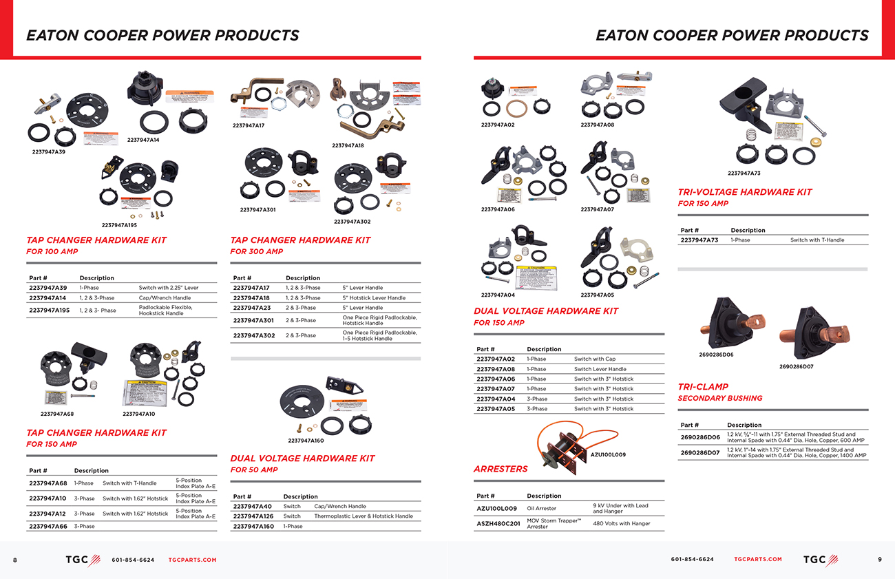 TGC (Transformer Gaskets and Components ) Catalog